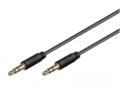 Audio kabelis 3.5mm - 3.5mm 1m juodas, mini